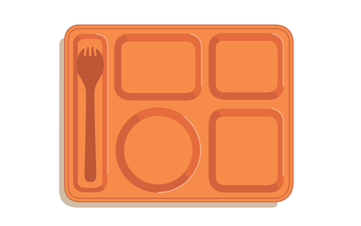 1240x775 Cafeteria Lunch Tray Clipart