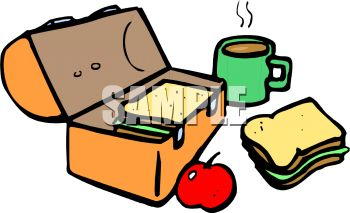 350x213 Royalty Free Clipart Image Lunch Box With Food