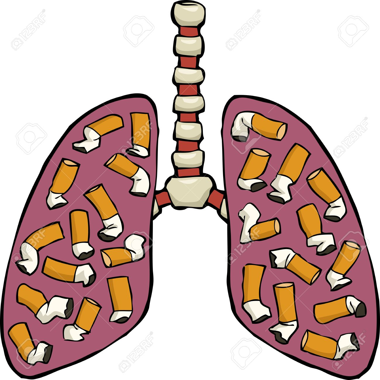 1300x1298 Cigarette Clipart Lung
