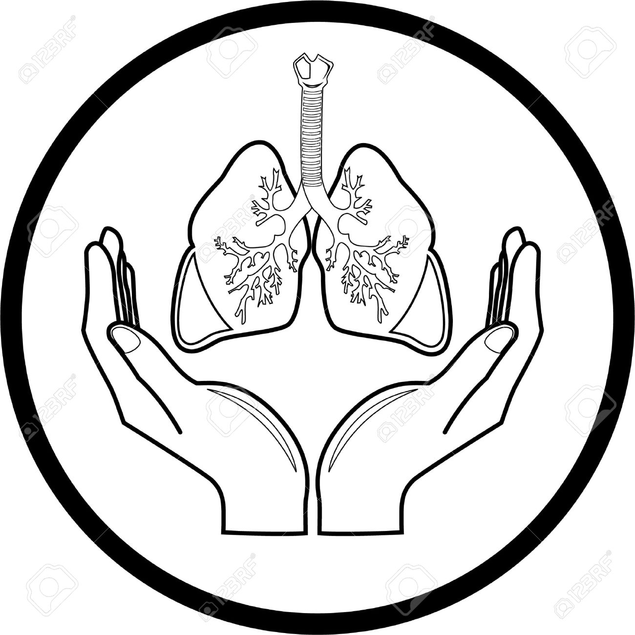 1300x1300 Images Lungs Clipart Black And White
