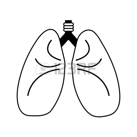 450x450 Lungs Cartoon Icon Image Vector Illustration Design Pink Color