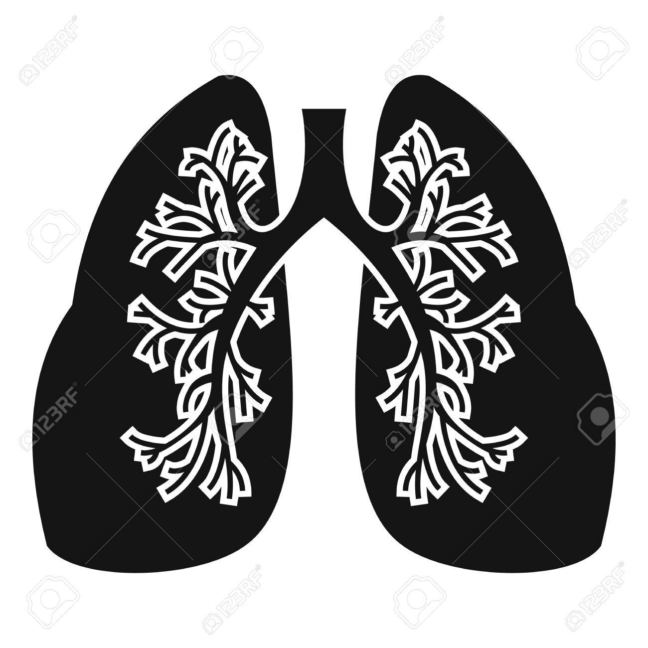 1300x1300 Lungs Icon. Simple Illustration Of Lungs Vector Icon For Web