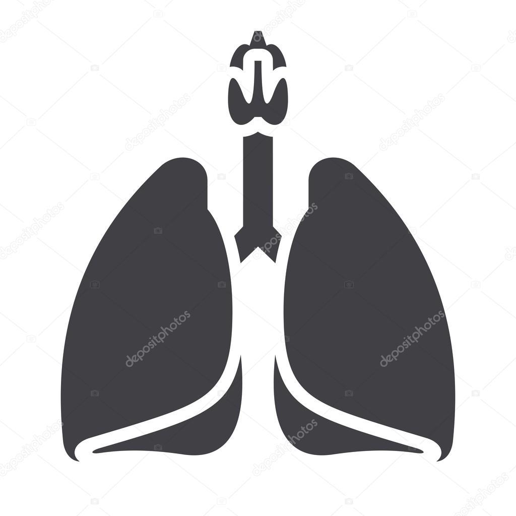 1024x1024 Lungs Black Icon Stock Vector Lynx V