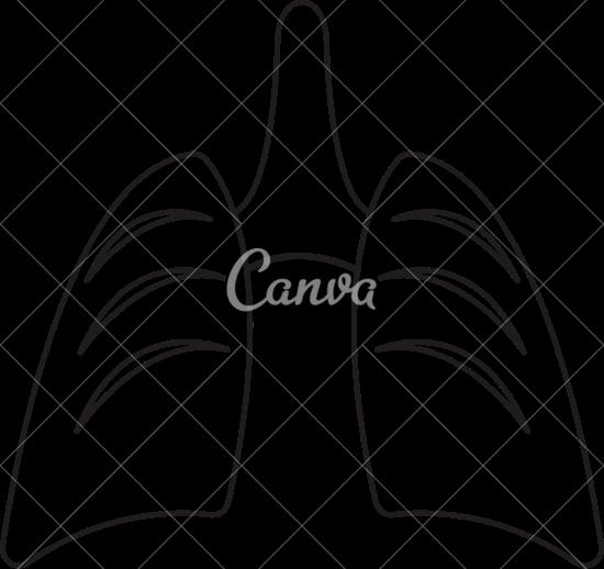 550x518 Cartoon Happy Lungs Icon Art