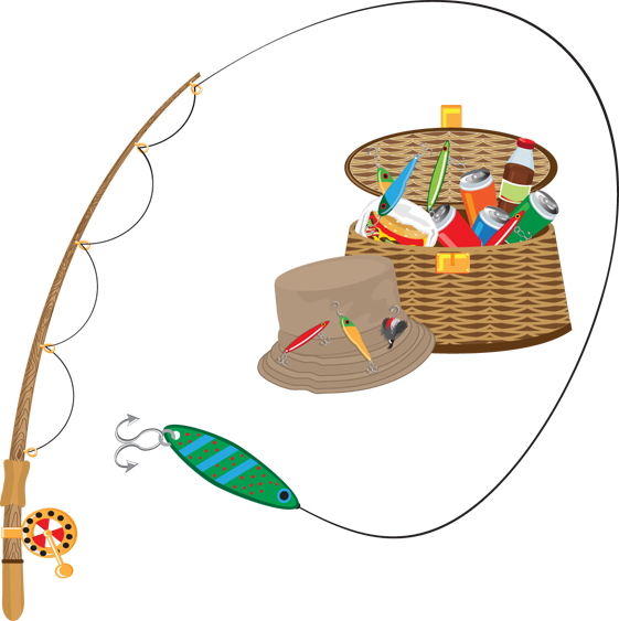 561x563 Free Fishing Tackle Clipart