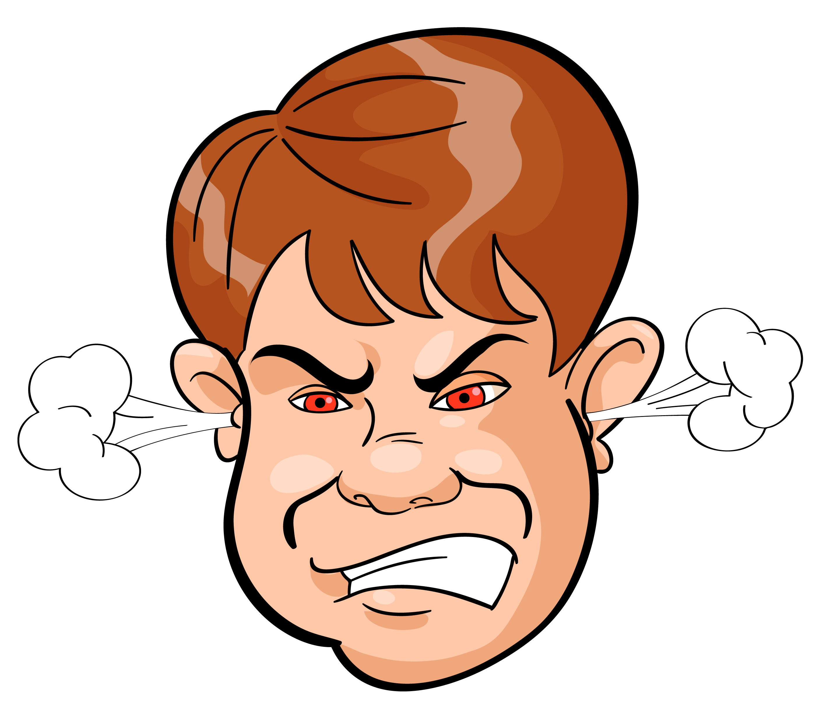 2800x2478 Expression Clipart Angry Face