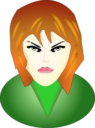 317x425 Angry Face Clipart