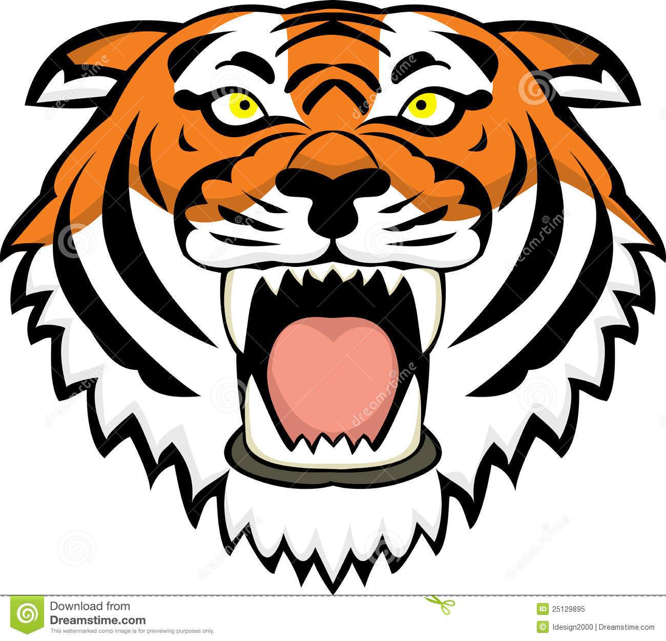 1300x1251 Angry Tiger Face Clip Art Clipart Panda
