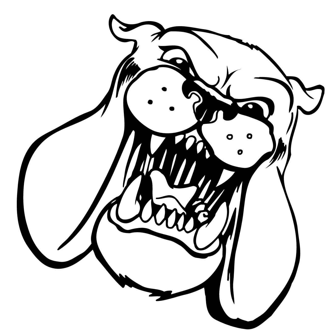 1317x1317 Drawn Pit Bull Mad Dog