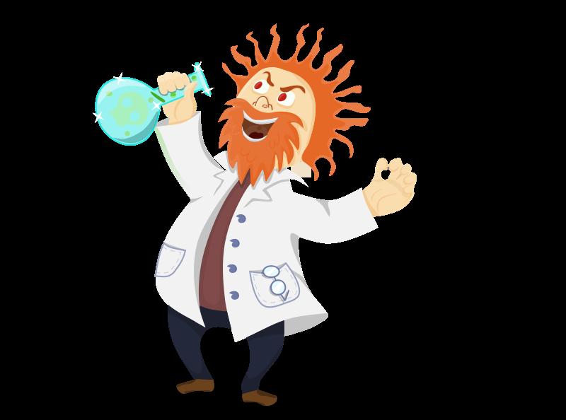800x594 Free Mad Scientist Clip Art