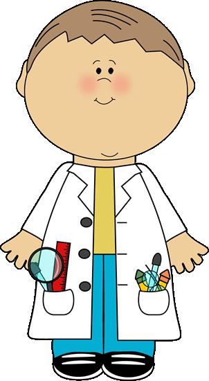302x550 Kid Mad Scientist Clipart