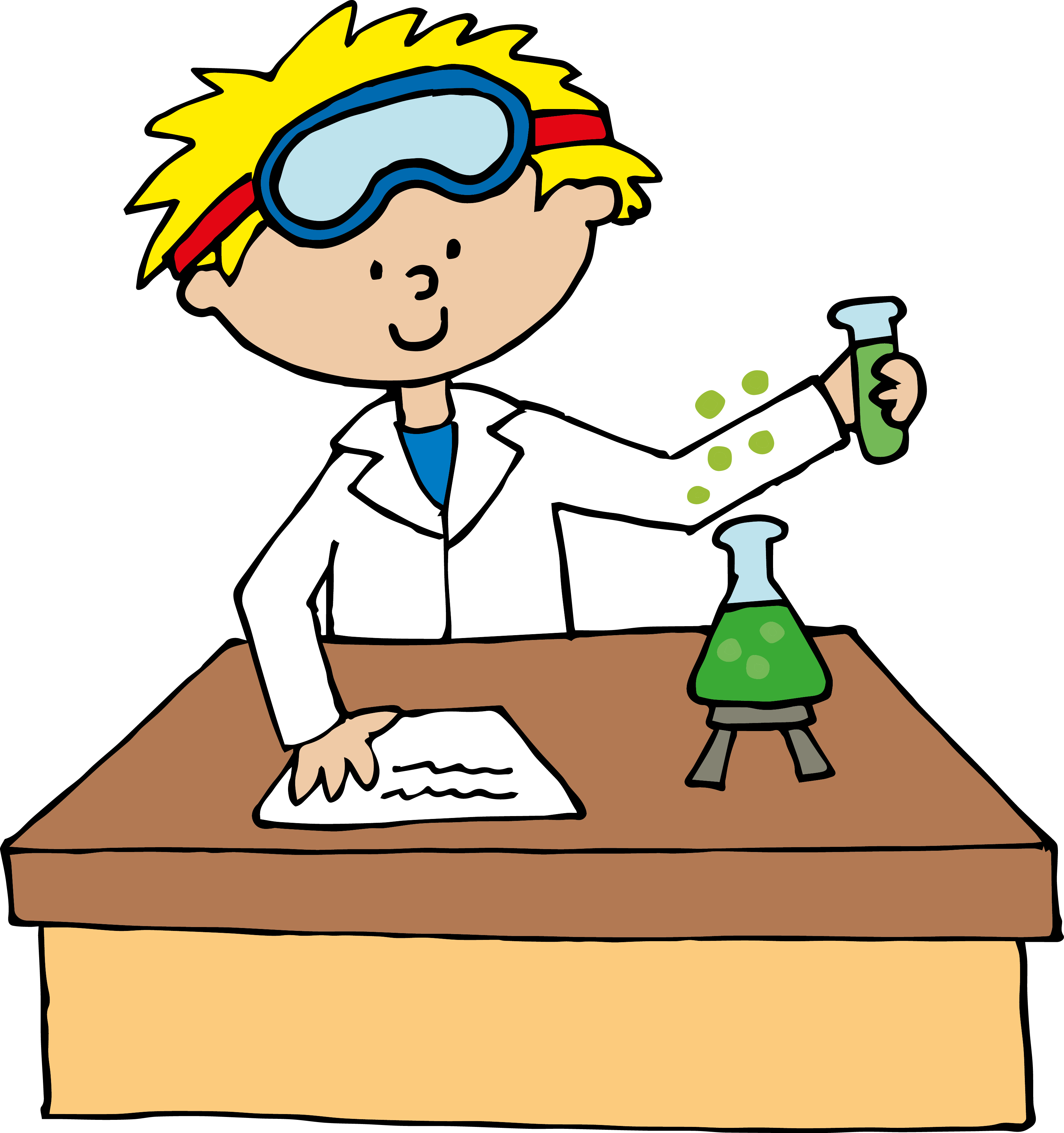 3317x3532 Mad Scientist Laboratory Clipart