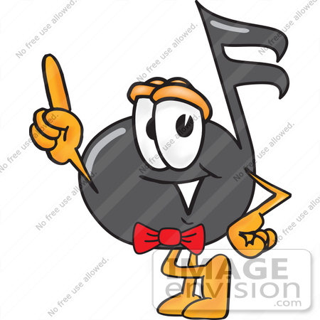 450x450 Clip Art Graphic Of A Semiquaver Music Note Mascot Cartoon