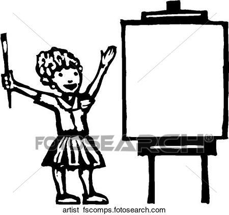 450x422 Clip Art Of Artist Artist