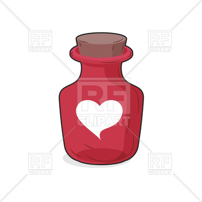 400x400 Magic Red Bottle Of Love Potion Royalty Free Vector Clip Art Image