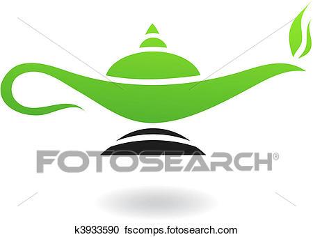 450x340 Clipart Of Magic Lamp K3933590