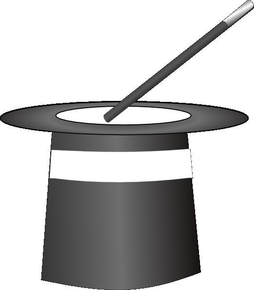 522x595 Black Amp White Magic Hat Clip Art