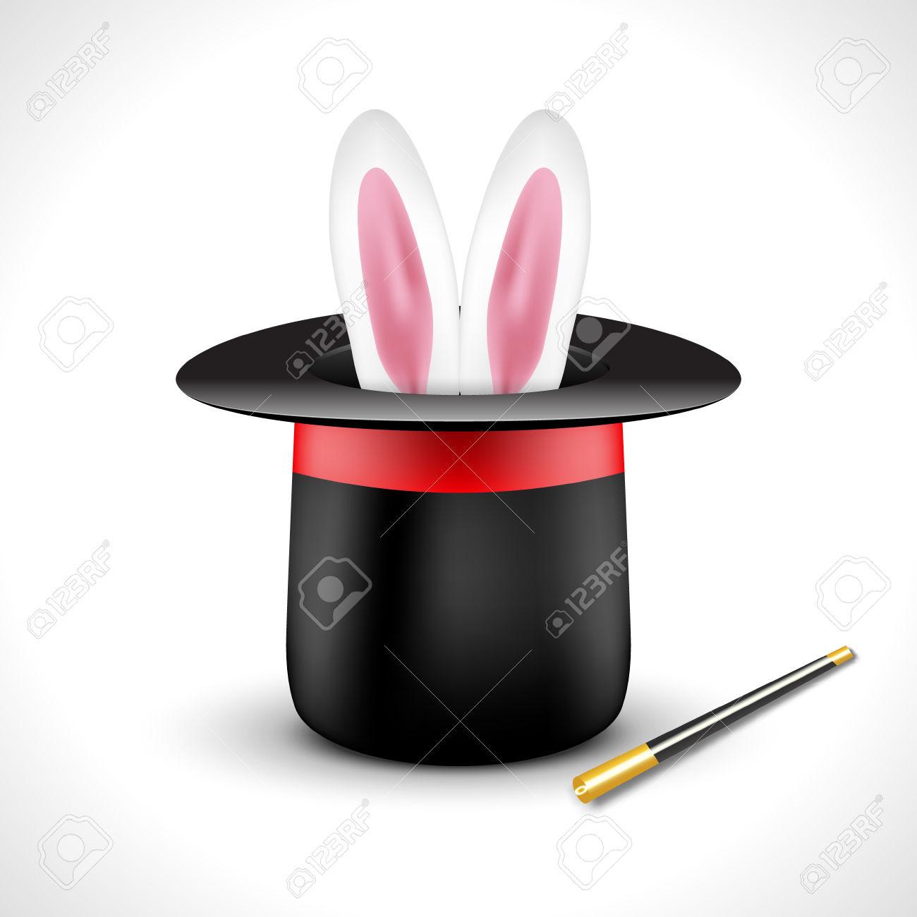 1300x1300 Bunny Clipart Magic Hat