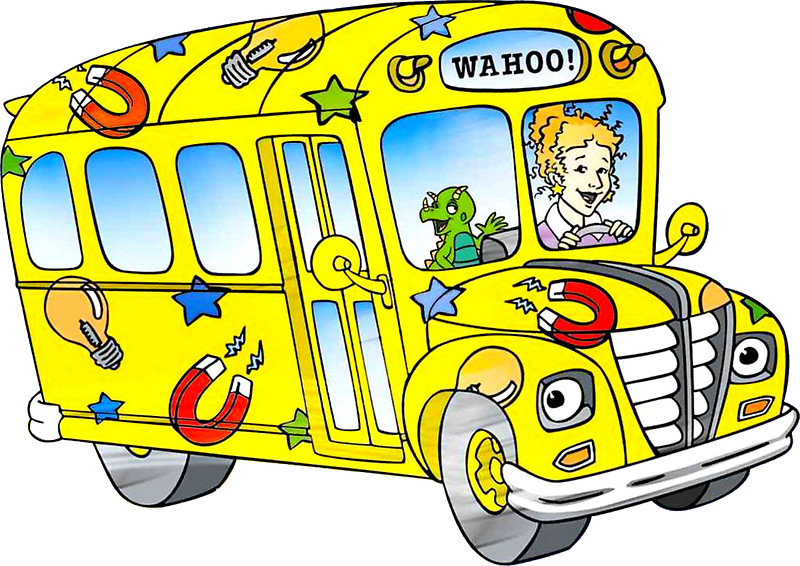 800x566 The magic school bus Stickers by ghjura Redbubble