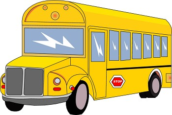 350x235 clipart yellow school bus