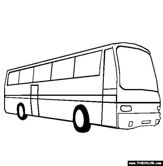 554x565 100% Free Vehicle Coloring Pages. Color in this picture of a Bus