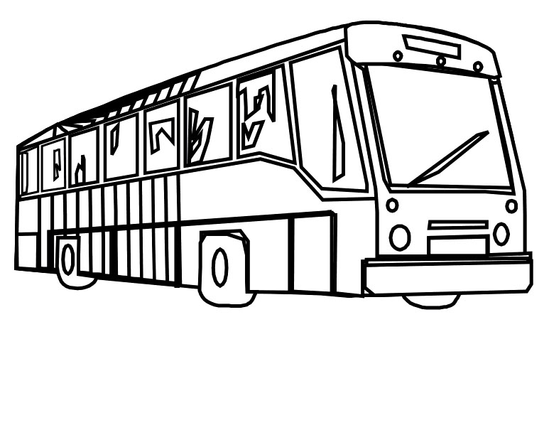 773x612 Lovely Bus Coloring Page 21 For Coloring for Kids with Bus