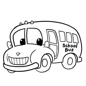 300x300 Magic School Bus Coloring Page Clipart Panda