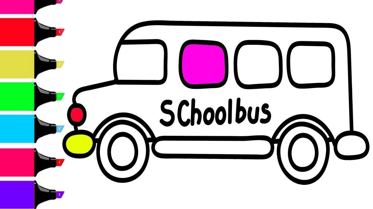 1280x720 Old School Bus Coloring Page Wecoloringpage Pages For Kids Free