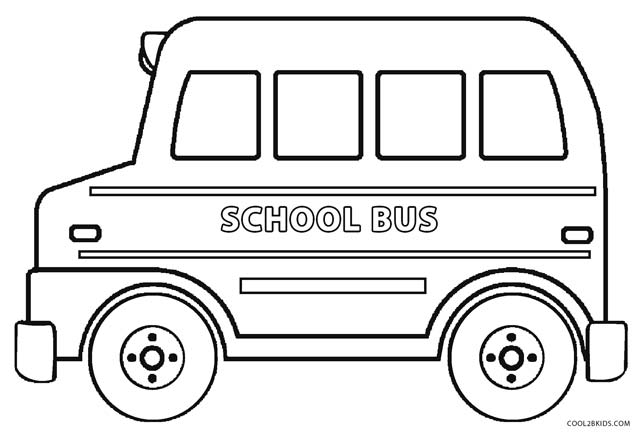 640x432 Printable School Bus Coloring Page For Kids Cool2bKids