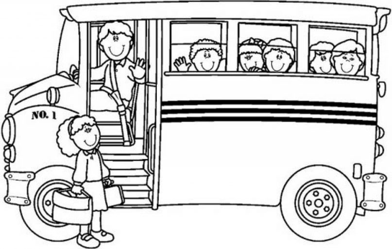 807x514 School Bus Picture Gallery For Website School Bus Coloring Page