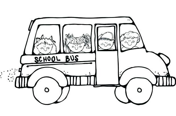 618x408 School Bus Coloring Page