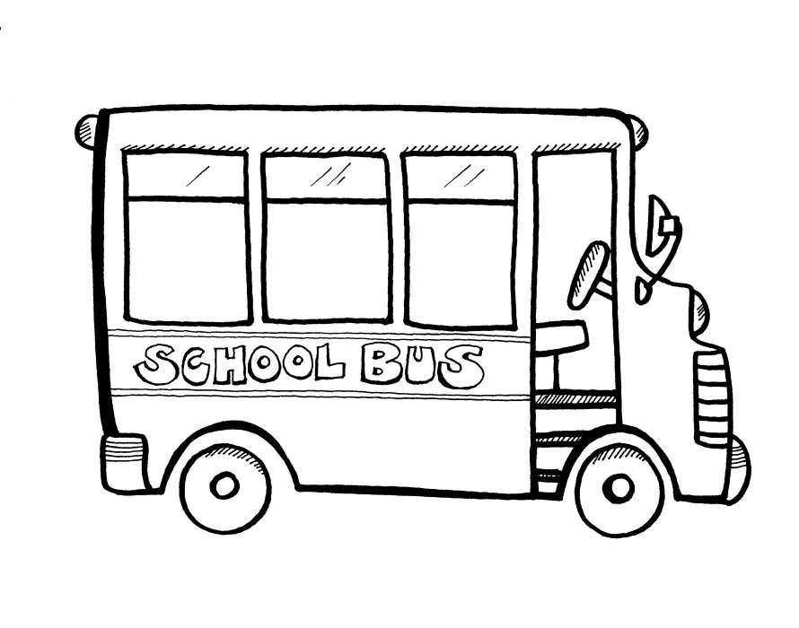 890x700 school bus coloring pages