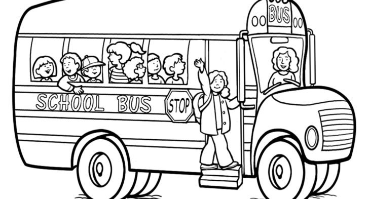 728x393 Bus Picture To Color Free Printable School Bus Coloring Pages For