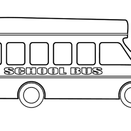 268x268 Coloring Page School Bus Kids Drawing And Coloring Pages