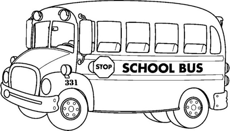 736x421 Coloring Page. School Bus Coloring Page
