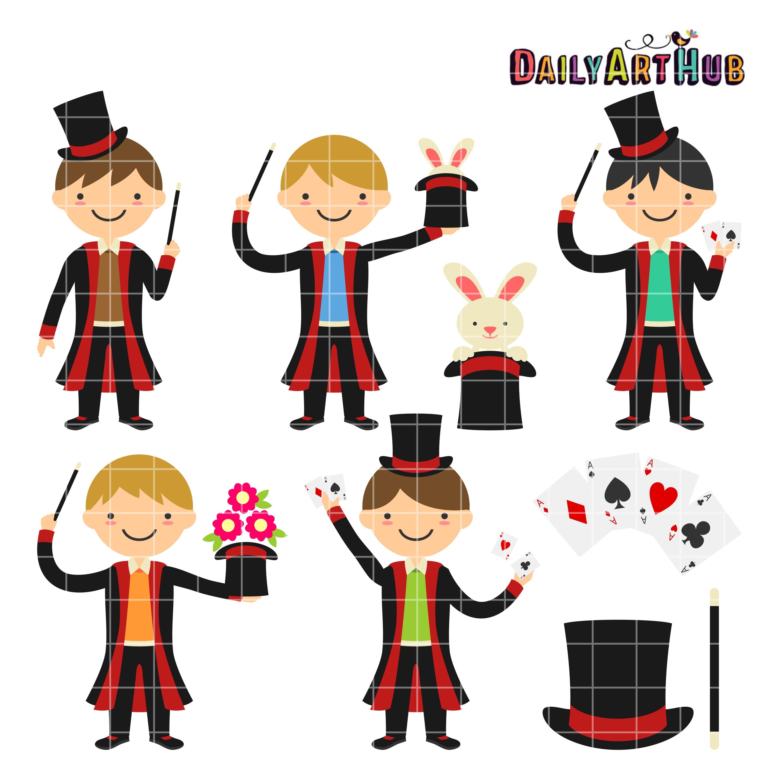 2664x2670 Magician Boys Clip Art Set Daily Art Hub