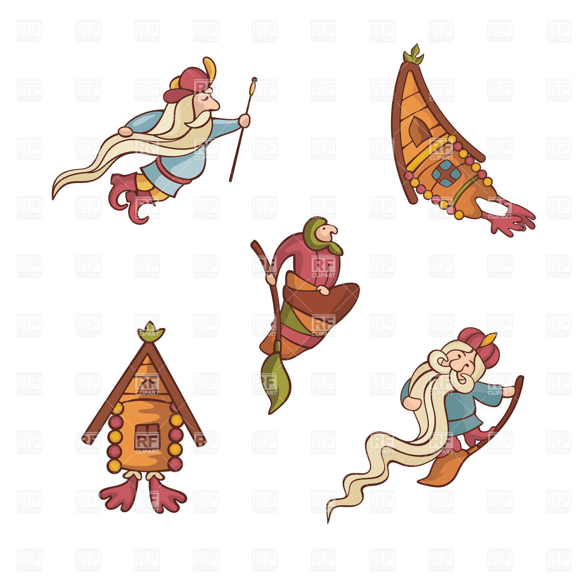 1200x1200 Cute Fairytale Characters Of Russian Tales