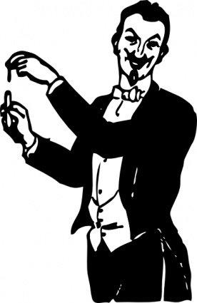 276x425 Magician Doing A Trick, Cliparts