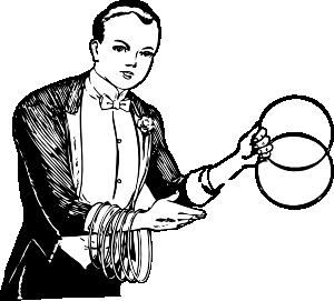 300x271 Magician Linking Rings Clip Art
