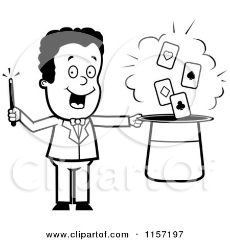450x470 Magician Clipart Black And White
