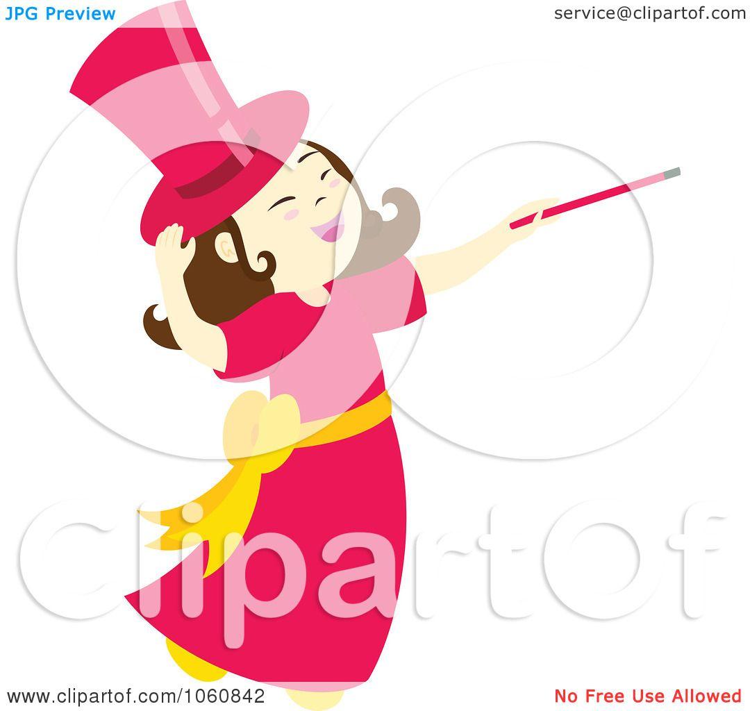 1080x1024 Royalty Free Vector Clip Art Illustration Of A Magician Girl