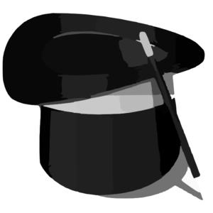 300x300 Illustration Of A Magician S Hat Clip Art
