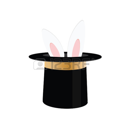 450x450 5,486 Rabbit In A Hat Stock Vector Illustration And Royalty Free