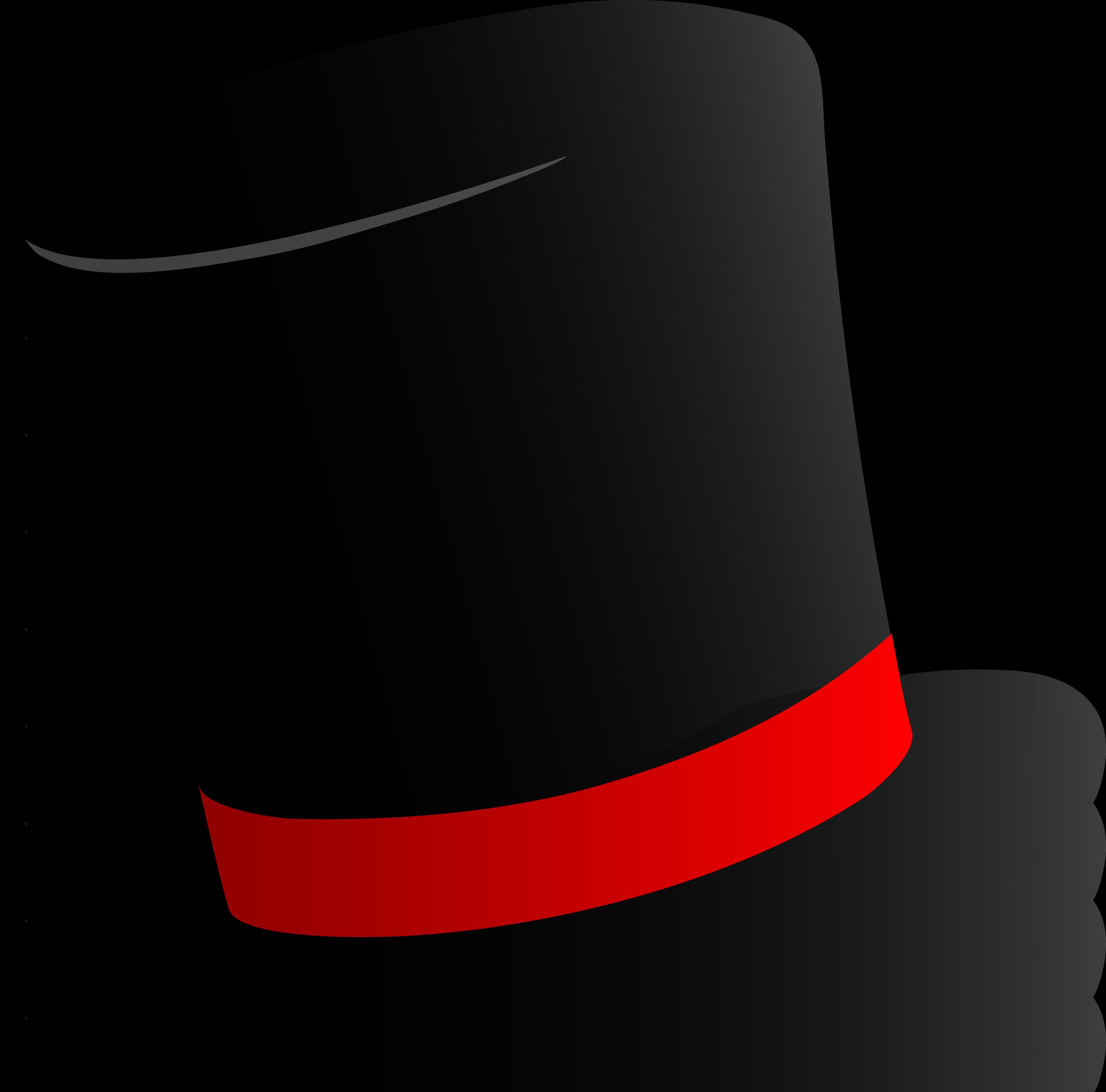 3858x3809 Black Top Hat Design