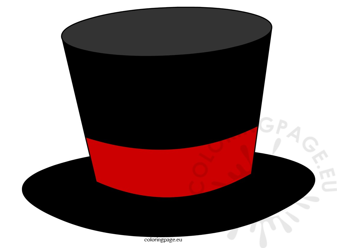 1122x826 Black Top Hat Magician Coloring Page