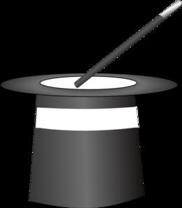 261x298 Black Amp White Magic Hat Clip Art
