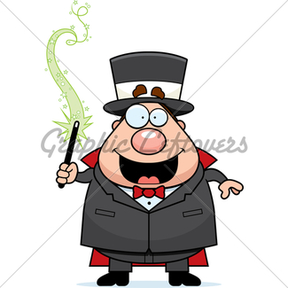 325x325 Cartoon Magician Confused Gl Stock Images