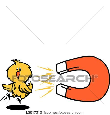 450x470 Clipart Of Chick Magnet K3017213