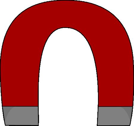 450x424 Horsehoe Magnet Clip Art