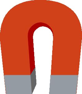 264x300 Horseshoe Magnet Clip Art